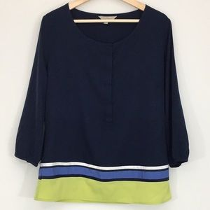 Banana Republic Blouse With 3/4 Length Sleeves